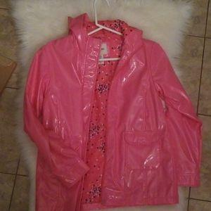 Girls Pink Rain Coat